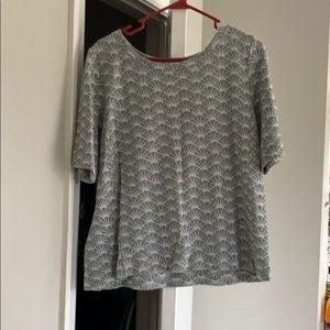 Used Loft printed top